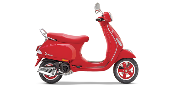 vespa red side view
